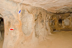 Saratli underground city, Turkey Royalty Free Stock Photos