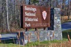 Saratoga Krajowy Dziejowy park, Nowy Jork, usa Obraz Royalty Free