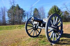 Saratoga National Historical Park, New York, USA. Cannon in Saratoga National Historical Park, Saratoga County, Upstate New York, USA. This is the site of the Royalty Free Stock Image