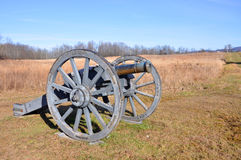 Saratoga National Historical Park, New York, USA. Cannon in Saratoga National Historical Park, Saratoga County, Upstate New York, USA. This is the site of the Stock Photo