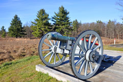 Saratoga National Historical Park, New York, USA. Cannon in Saratoga National Historical Park, Saratoga County, Upstate New York, USA. This is the site of the Royalty Free Stock Photo
