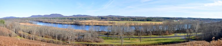 Saratoga National Historical Park, New York, USA. Hudson River in Saratoga National Historical Park panorama, Saratoga County, Upstate New York, USA. This is the Royalty Free Stock Photography