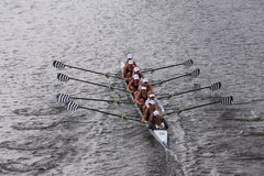 Saratoga races in the Head of Charles Regatta Women's Youth Eights Stock Photos
