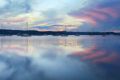 Saratoga-Sonnenuntergang Lizenzfreies Stockbild