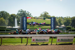 Saratoga Springs Horse Racing Royalty Free Stock Photos