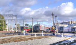 saratov Автостоянка поезда Стоковые Фотографии RF