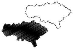 Saratov Oblast mapy wektor royalty ilustracja