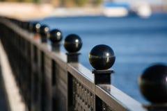 Saratov Quay on a sunny day.  Royalty Free Stock Photography
