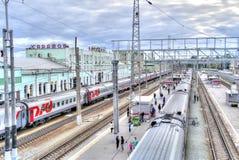 Saratov. Railway station Stock Photography