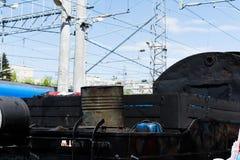 SARATOV, RUSSIE - 6 MAI 2017 : Fragment du musée mobile Victory Train consacrée à la grande guerre patriotique Photo libre de droits