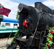 SARATOV, RUSSIE - 6 MAI 2017 : Victory Train Musée ferroviaire mobile de la grande guerre patriotique Photos libres de droits