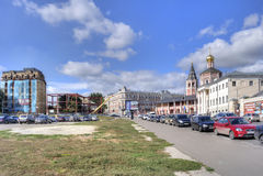 Saratov. Streets of city Royalty Free Stock Photo
