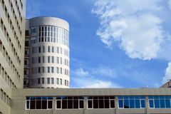 Saratov university building. Modern building of Saratov agricultural university Russia stock image