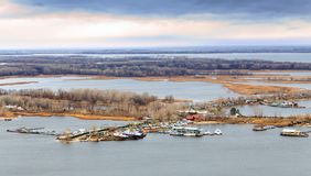 Saratov. View of island Zelenyy on Volga River. Russia Stock Photo