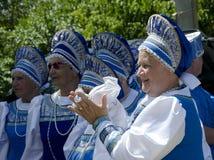 Saratow-Großmutter Lizenzfreies Stockbild