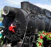 SARATOW, RUSSLAND - 6. MAI 2017: Victory Train Das bewegliche Museum des großen patriotischen Krieges Lizenzfreie Stockbilder