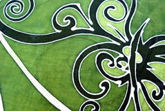 Sarawak Batik an orang ulu motif. A hand draw fabric known as batik in Malaysia with an 'Orang Ulu' motif of design. Orang Ulu a minor ethnic  group living Royalty Free Stock Photo