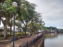 Sarawak-Flussufergegend Stockfoto