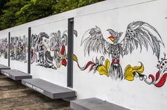 Sarawak Kuching streetart Arkivfoton