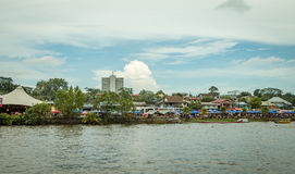 Sarawak Kuching wody festiwal, regatta z longboats Obrazy Stock