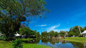Sarawak kulturell by i Malaysia Arkivfoton