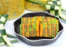 Sarawak layer cake royalty free stock photography