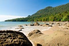 Sarawak, Malaysia. Image of Damai beach and legendary Mount Santubong, Sarawak, Malaysia Stock Images