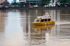 Sarawak river taxi boat on the river in Kuching city Royalty Free Stock Photo