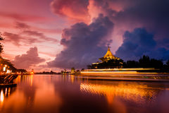 The Sarawak State Legislative Assembly Building at Dawn Stock Photo