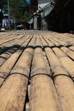 Sarawak transitional longhouse bamboo floor Stock Image