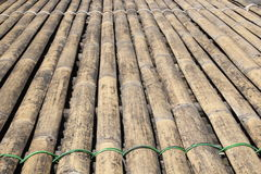 Sarawak transitional longhouse bamboo floor Stock Photo