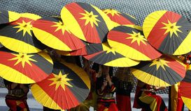 Sarawakvlag Stock Foto