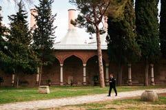 Saray Mutfaklari ou cozinha do palácio de Matbah I Amire do amigo de Topkapi fotos de stock royalty free