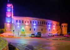 Saraya byggnad i Safed Tzfat fotografering för bildbyråer