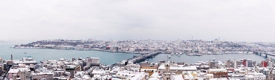 Sarayburnu winter panorama Royalty Free Stock Photos
