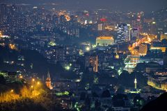 Sarayevo By Night, Bosnia And Herzegovina royalty free stock image