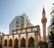 Sarayonu清真寺在尼科西亚 塞浦路斯 库存照片