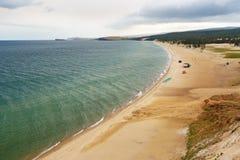 Sarayskiy plaża i zatoka baikal jeziora baikal jezioro olkhon Rosji wyspy Rosja Obrazy Royalty Free