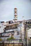 Sarcófago de la central nuclear de Chernóbil Foto de archivo libre de regalías
