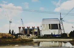 Sarcófago de la central nuclear de Chernóbil Imágenes de archivo libres de regalías