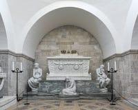 Sarcófago do rei Christian IX e rainha Louise na catedral de Roskilde, Dinamarca Imagem de Stock