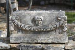 Sarcófago en el castillo de Bodrum Fotos de archivo