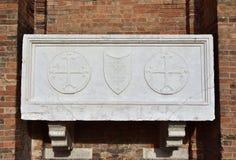 Sarcófago medieval en Venecia foto de archivo