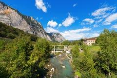 Sarca-Fluss- Trentino Italien Stockbilder