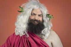 Sarcastic God. Sarcastic Zeus god or jupiter scoffs at a concept Royalty Free Stock Photos