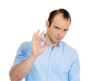 Sarcastic man Stock Photography