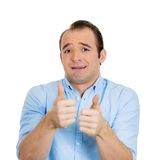 Sarcastic man, thumbs up Royalty Free Stock Image