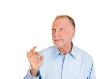 Sarcastic OK old guy Stock Images