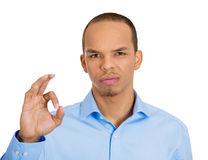 Sarcastic OK sign Royalty Free Stock Photos