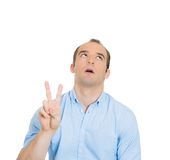 Sarcastic peace sign Royalty Free Stock Photo